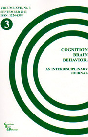 Cognition, Brain, Behavior. An Interdisciplinary Journal (September 2013) - Autori multipli